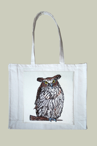 eagle owl with pocket