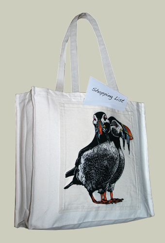 puffin large tote with gusset