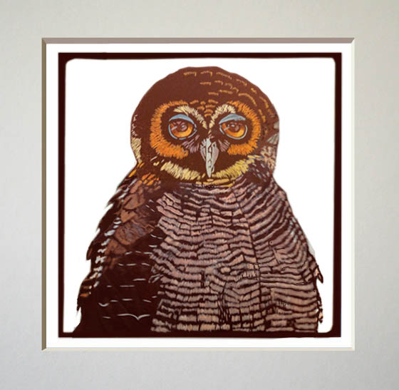 brown owl print