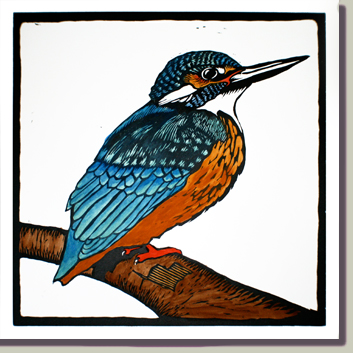 Kingfisher print button